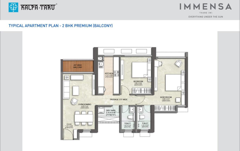 2-BHK-Premium-Balcony